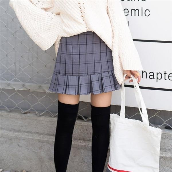 FINDSENSE G6 韓國時尚 百搭 格子 半身裙 防走光 短裙 休閒裙 褲