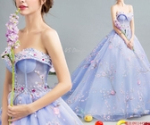 (45 Design)  現貨到貨 客製化顏色大尺碼訂做 日韓婚紗禮服 高級訂製服 連身裙 洋裝媽媽裝18