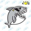 【收藏天地】防水防曬*安全帽 汽機車 萬用貼-鯊魚注意(小)