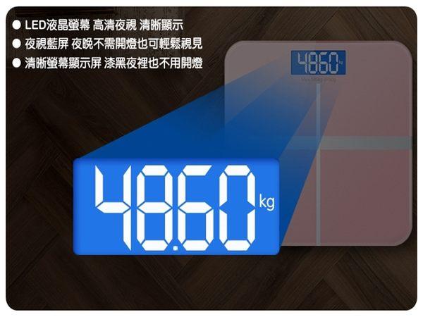 【十字體重計】帶溫度計電量顯示夜視版強化玻璃 180KG電子體重秤 4號電池人體秤 自動秤