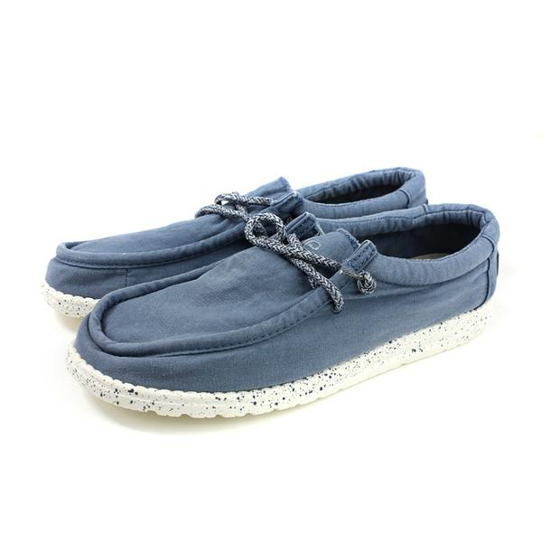 Hey Dude 休閒鞋 帆船鞋 帆布 藍色 男鞋 HD1831-805 no001