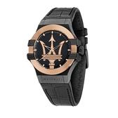 MASERATI 瑪莎拉蒂 潮流玫瑰金三針腕錶42mm(R8851108032)