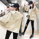 2813#韓版bf連帽工裝外套學生寬松夾...