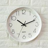 康巴絲掛鐘客廳靜音電池家用現代簡約創意大氣掛牆鐘圓形臥室鐘錶 YTL 韓語空間