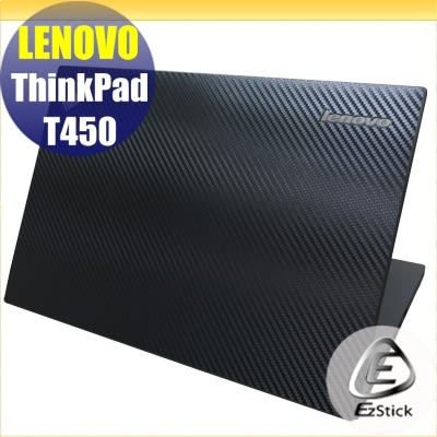 【Ezstick】Lenovo T450 Carbon黑色立體紋機身貼 (含上蓋、鍵盤週圍) DIY包膜