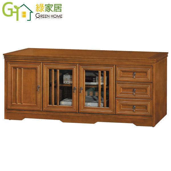 【   綠家居  】    席托    典雅5尺實木電視櫃/視聽櫃