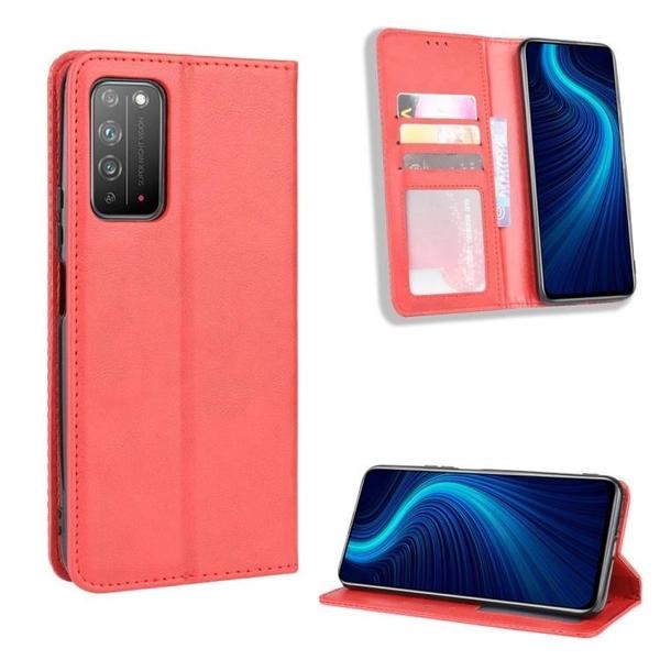 復古 掀蓋殼 華為 榮耀X10 手機殼 隱形磁釦 磁吸 保護殼 榮耀 Honor X10 翻蓋皮套 支架插卡 手機套