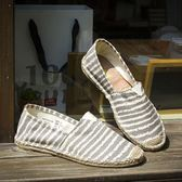 漁夫鞋 氣帆布鞋 休閒鞋 編織懶人鞋【非凡上品】nx2492