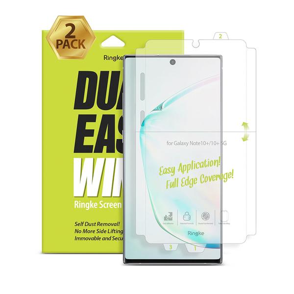 Rearth Ringke 三星 Galaxy Note 10+ 全包覆抗衝擊螢幕保護貼(兩片裝)