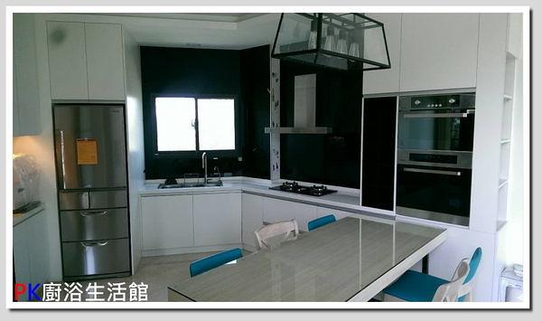 高雄流理台 ❤PK廚浴生活館 實體店面❤ 廚具 LG台面 白鐵桶身 水晶門板 崁入手把 櫻花三機 電器櫃