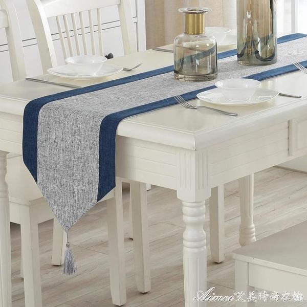 現代簡約桌旗中式禪意桌巾北歐茶桌布藝棉麻餐桌裝飾布床旗中國風交換禮物