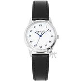 【台南 時代鐘錶 agnes b.】BU9030P1 太陽能 手寫風 羅馬字 皮革錶帶女錶 V117-KVY0Z 白/銀 27mm