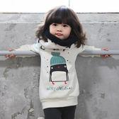 加厚  小企鵝棉內刷毛加厚長袖上衣 童裝  橘魔法 Baby magic 現貨 韓國童裝