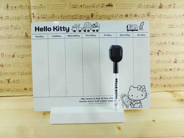 【震撼精品百貨】Hello Kitty 凱蒂貓~KITTY留言板-木製週曆