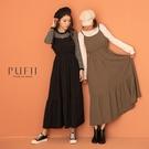 限量現貨◆PUFII-洋裝 細肩吊帶縮腰...