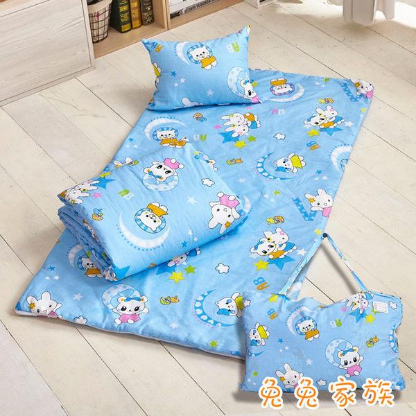 100%精梳純棉冬夏兩用鋪棉兒童睡袋/幼兒睡袋/幼稚園睡袋-(歡樂小鹿)