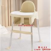 寶寶餐椅餐桌嬰兒吃飯椅兒童椅子便攜式家用高低可調多功能學坐椅【齊心88】