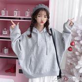冬季衛衣女韓版潮學生寬鬆bf風ulzzang長袖加絨加厚ins超火的外套  潮流前線