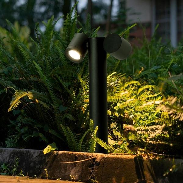 草坪燈led戶外防水景觀花園庭院燈小區公園室外雙頭可旋轉草地燈 YYJ 阿卡娜