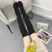 長靴女過膝秋冬新款粗跟高跟韓版百搭瘦瘦靴子chic高筒靴  美斯特精品