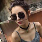 時尚太陽鏡 炫彩百搭太陽眼鏡圓框復古墨鏡眼鏡【五巷六號】y257
