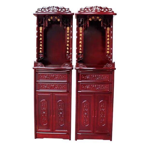 佛龕立櫃菩薩財神櫃現代簡約經濟型家用佛龕帶門神台佛櫃供台JY【限時八折】