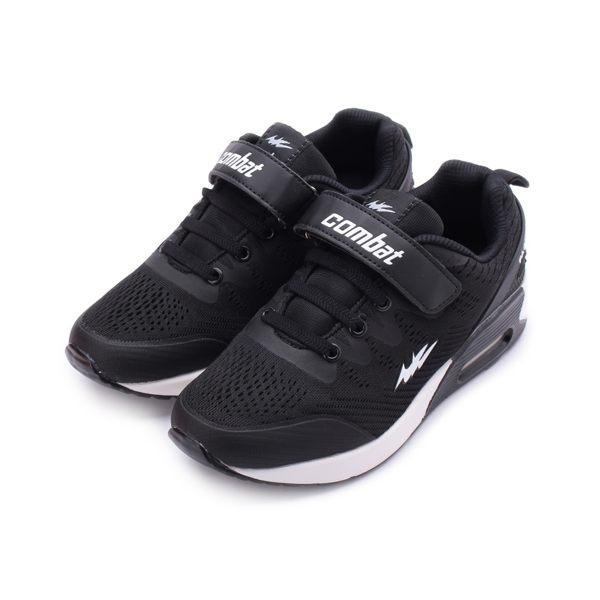 COMBAT 魔鬼氈氣墊運動鞋 黑 TD-6273 大童鞋 鞋全家福