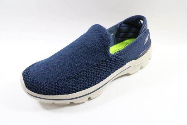 【零碼10.5號】SKECHERS (男) 健走系列 GO Walk 3 休閒 健走鞋 - 54057NVY 深藍