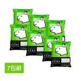 寵物家族-【7包免運組】大和紙砂7L綠茶