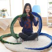 仿真蟒蛇毛絨玩具假軟蛇整蠱惡搞嚇人道具大號恐怖公仔玩偶娃娃