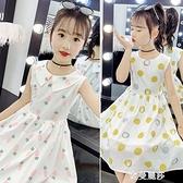 女童洋裝夏季純棉新款韓版洋氣公主裙小女孩夏裝中大童裙子 雙十二全館免運
