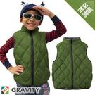 【GRAVITY 兒童 輕量羽絨背心 橄綠】GV301G/兒童背心/羽絨衣/羽絨背心/保暖背心