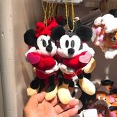♥小花花日本精品♥Hello Kitty 迪士尼Disney米奇米妮吊偶包包掛飾情人節對偶日本限定 (預購)