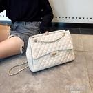 大包包女2021新款潮菱格錬條包韓版百搭單肩斜背包時尚繡線包