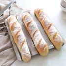 學廚3槽不沾長條法式面包法棍模具不黏波浪吐司烘焙烤盤烤箱家用igo 格蘭小舖