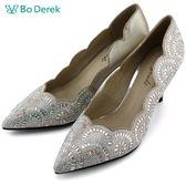 ★新品上市★【Bo Derek】歐風水鑽高跟婚鞋-銀