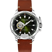 GIORGIO FEDON 1919 TIMELESS IX 鏤空機械錶-綠x咖啡/42mm GFCK003