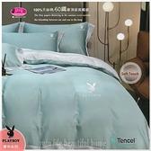 PLAY BOY-艾歐斯【綠灰】雙色搭配/100%天絲棉/300織/四件套『兩用被套+床包』5*6.2尺