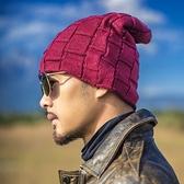 毛帽-立體純色保暖秋冬男針織帽6色73ug20【巴黎精品】