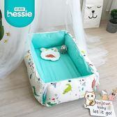 北歐嬰兒卡通便攜可拆洗全棉床中床寶寶多功能床圍欄