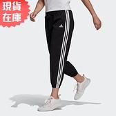 【現貨】ADIDAS W 3S WV E 78PT 女裝 長褲 九分 慢跑 休閒 透氣 基本 黑【運動世界】GM5559