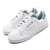 adidas 休閒鞋 Continental 80 W 白 藍 粉紅 女鞋 小白鞋 復古款 運動鞋 【ACS】 FW2534
