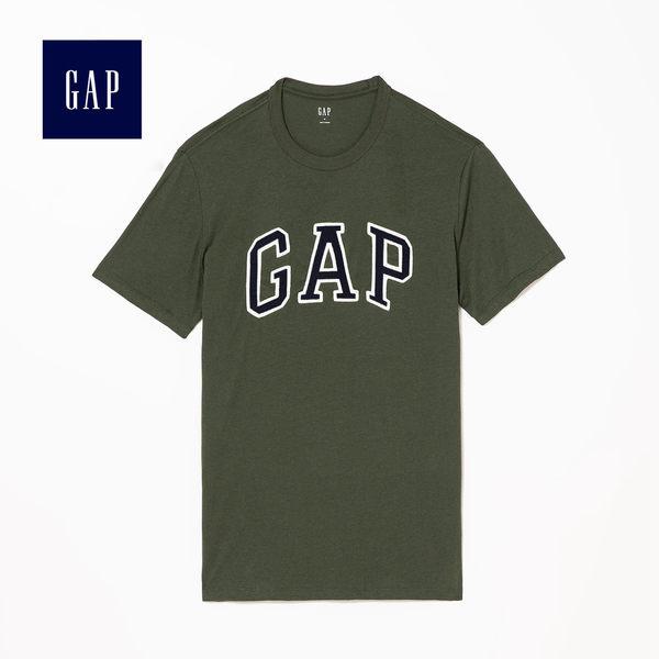 Gap男裝 logo圓領短袖T恤 639065-橄欖綠