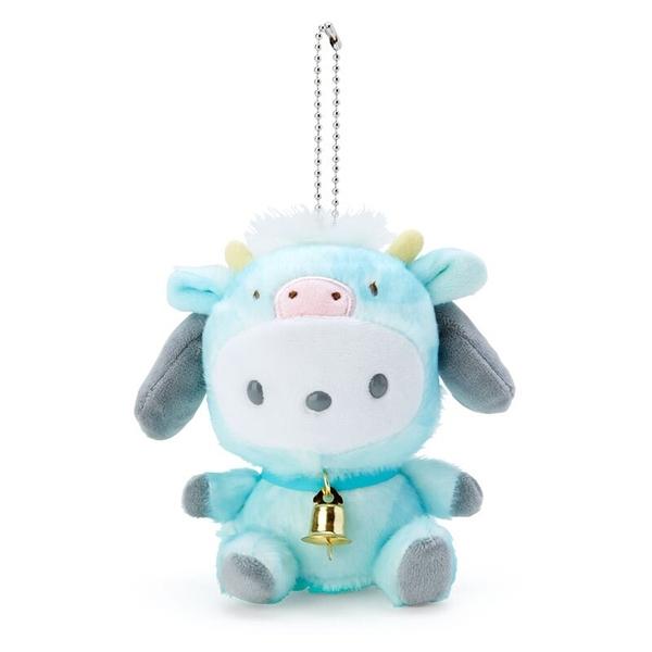 小禮堂 帕恰狗 絨毛吊飾 生肖吊飾 玩偶吊飾 玩偶鑰匙圈 (綠 牛牛新年企劃) 4550337-17247