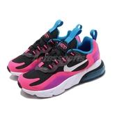 Nike 慢跑鞋 Air Max 270 Reaxt PS 桃紅 白 藍 中童鞋 小朋友 【PUMP306】 BQ0100-001
