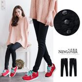 窄管褲NEWLOVER【268-9625】雜誌款變體3釦質感原黑纖細美腿窄管褲S-L