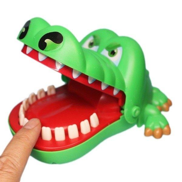 鱷魚拔牙齒 2205 瘋狂鱷魚(大)/一袋10個入(促99) 咬咬樂 咬人鱷魚 整人玩具 桌遊-CF136804