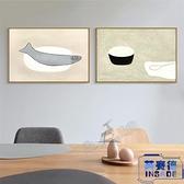 日式簡約餐廳壁畫墻畫裝飾畫現代家居墻壁掛畫裝飾畫【英賽德3C數碼館】