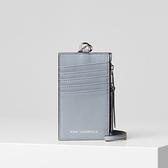 Karl Lagerfeld 卡爾 老佛爺包包 ODINA真皮多功能卡夾-水洗藍