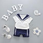 男童夏裝套裝2018新款短袖0-1-2-3歲嬰兒衣服寶寶夏季兒童韓版 快速出貨 全館八折
